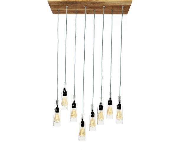 Hanglamp 'flessenlamp'